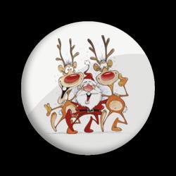 Papá Noël con renos