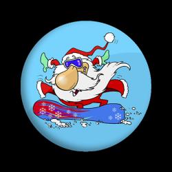 Papá Noël snowboard